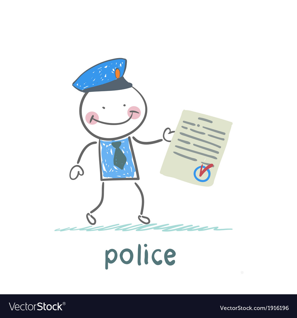 Police shows the document vector image