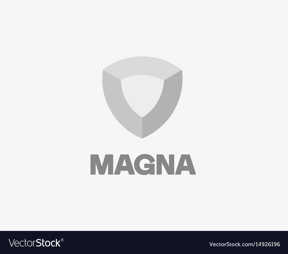 Shield logotype core logo vector image
