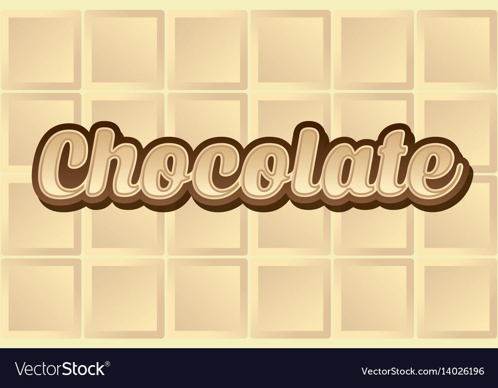 White chocolate type vector image