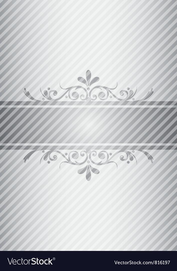 Silver gray vintage background Vector Image