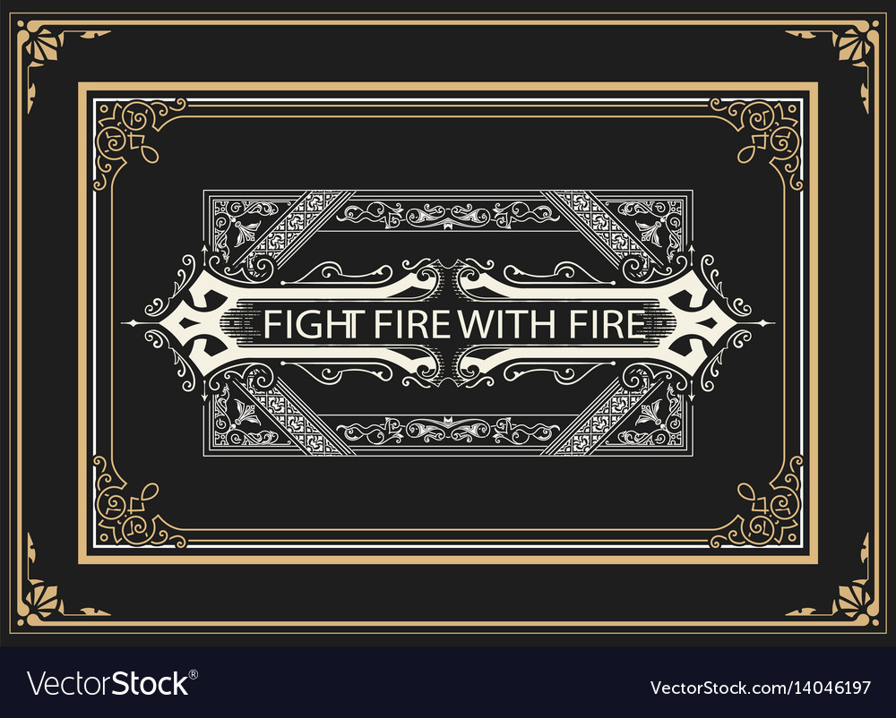 Label with baroque elements and heraldic shield vector image