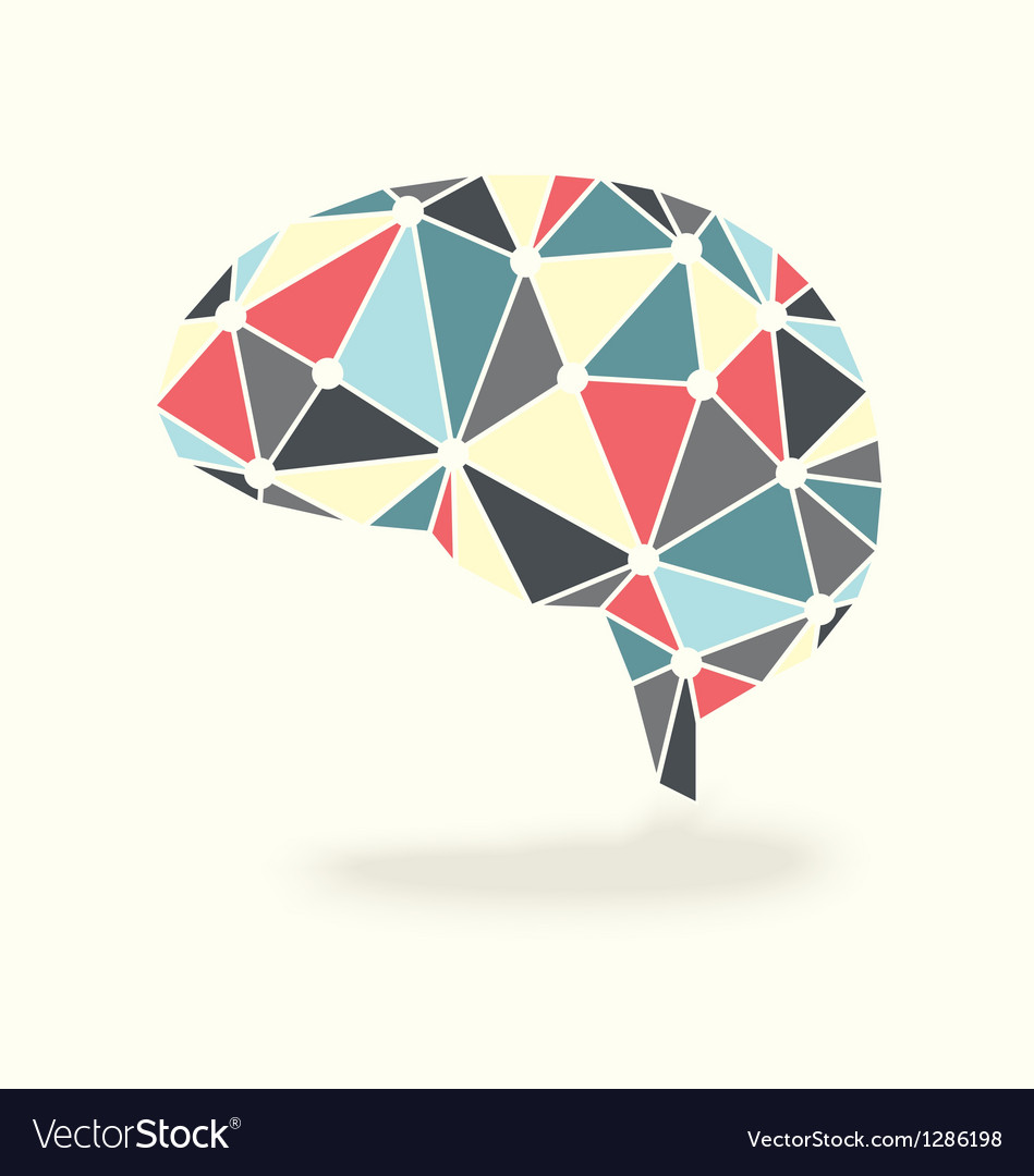 Brain Showing Synapses Activity vector image