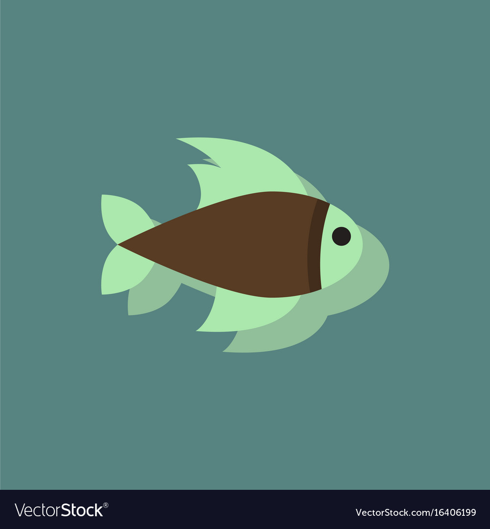 Aquarium fish silhouette fish sticker