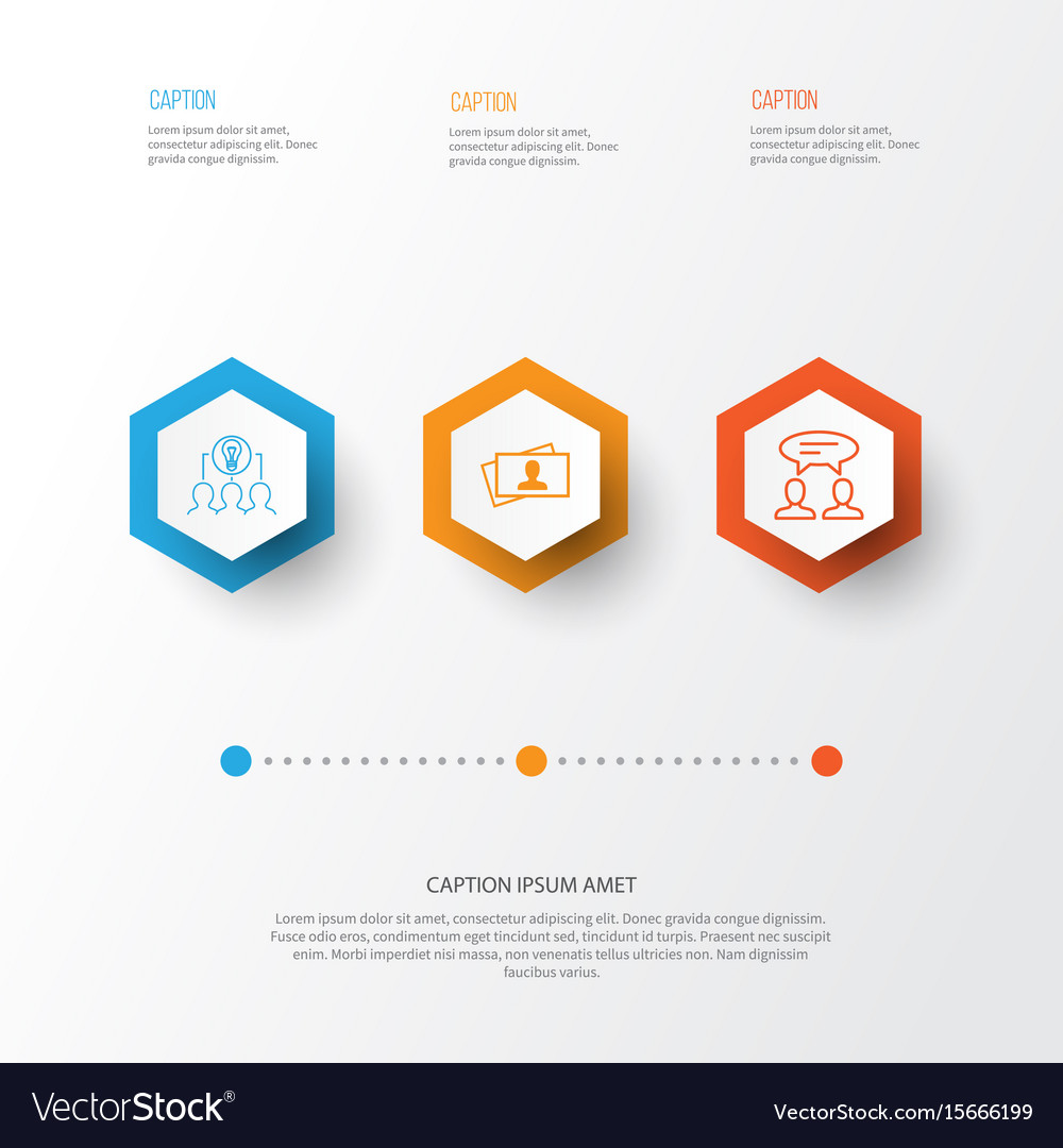 Business icons set collection of collaborative vector image