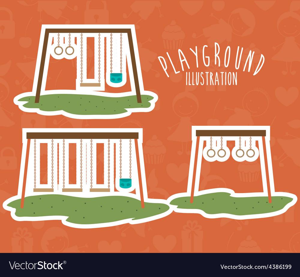 Playground design vector image