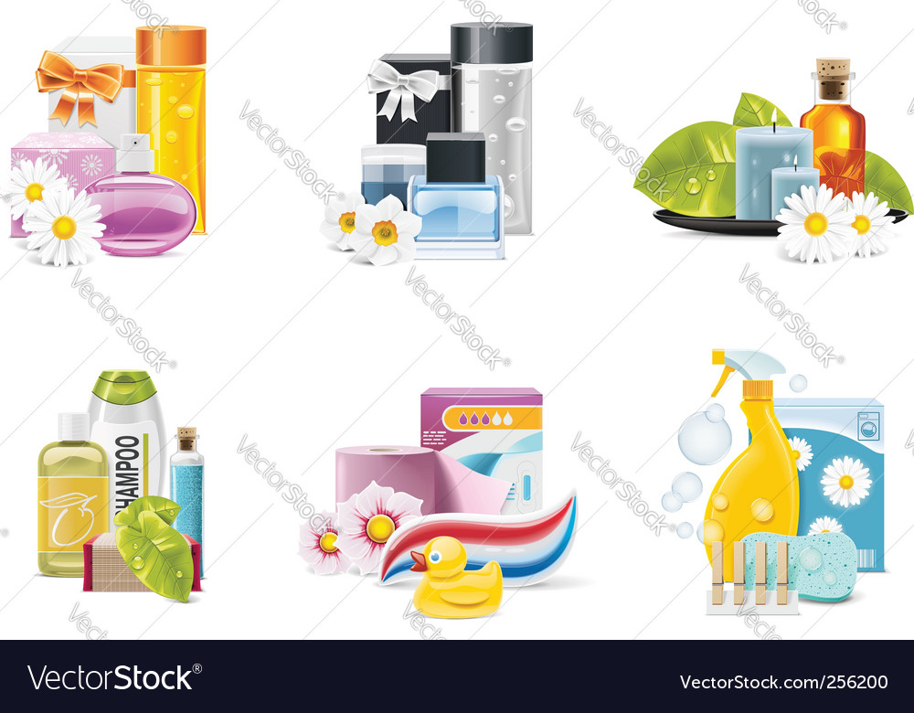 health and beauty suppl vector image
