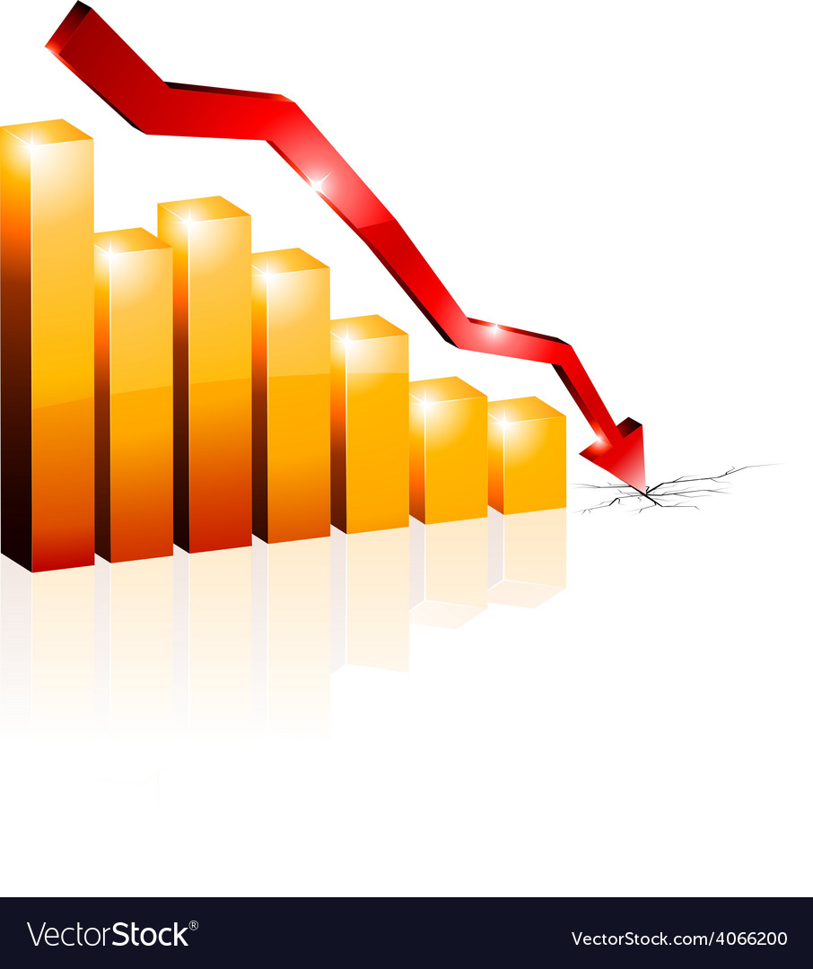 Crisis diagram vector image