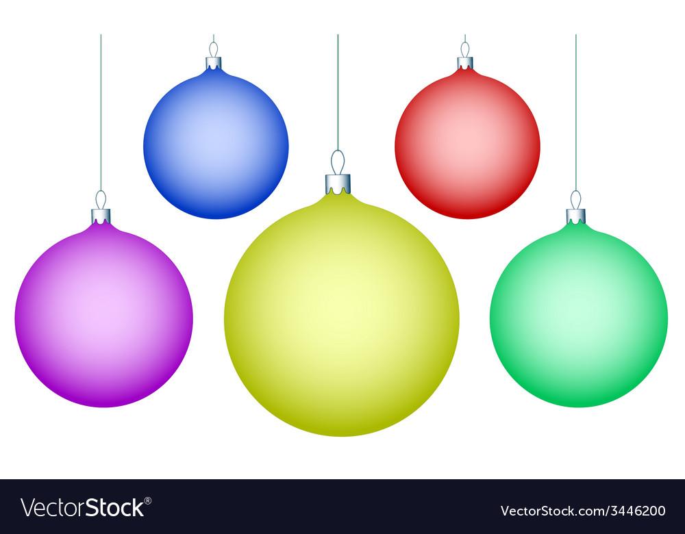 Cristmas balls vector image
