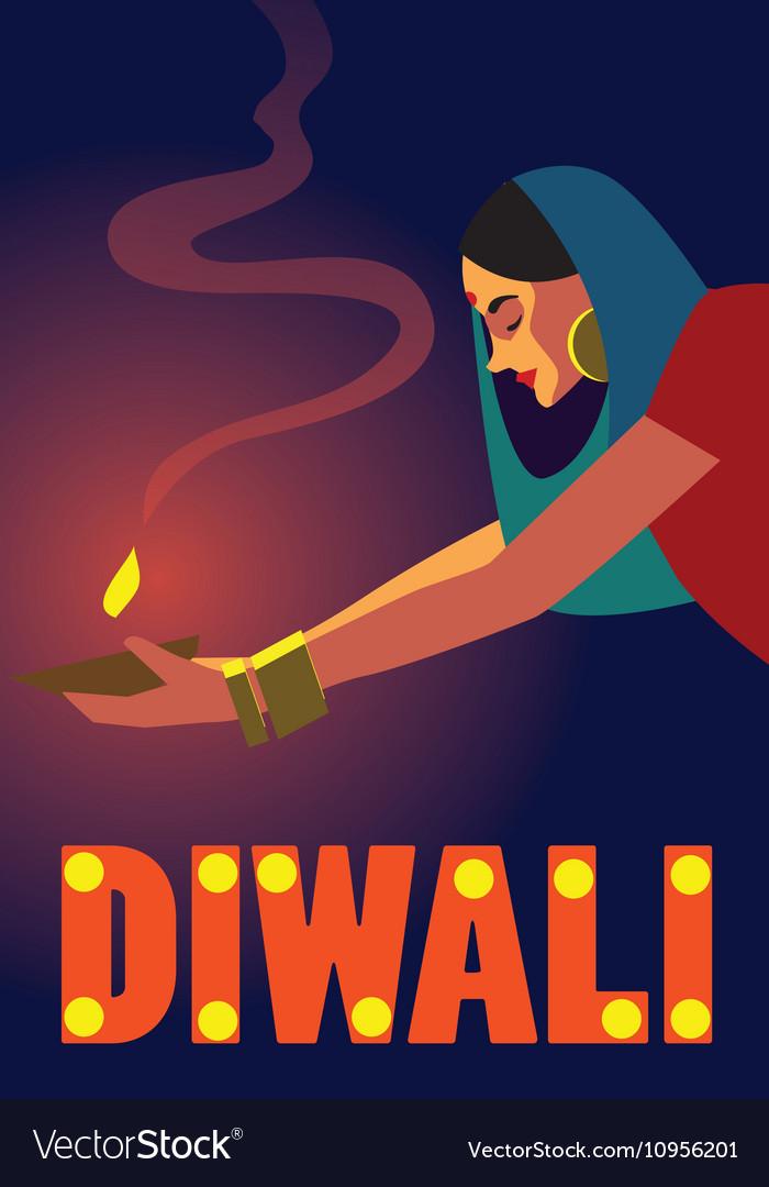 Happy Diwali Celebration vector image
