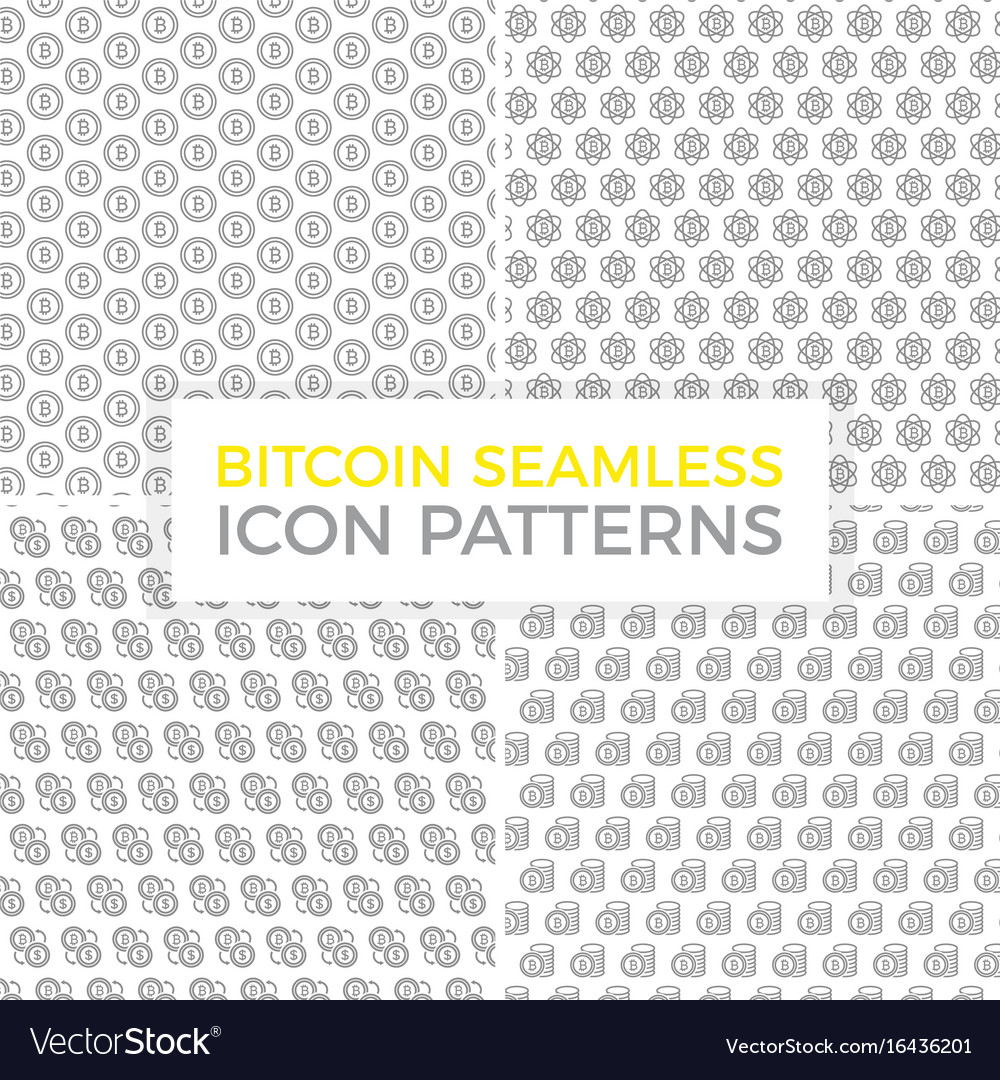 Unique digital money and bitcoin seamless pattern vector image
