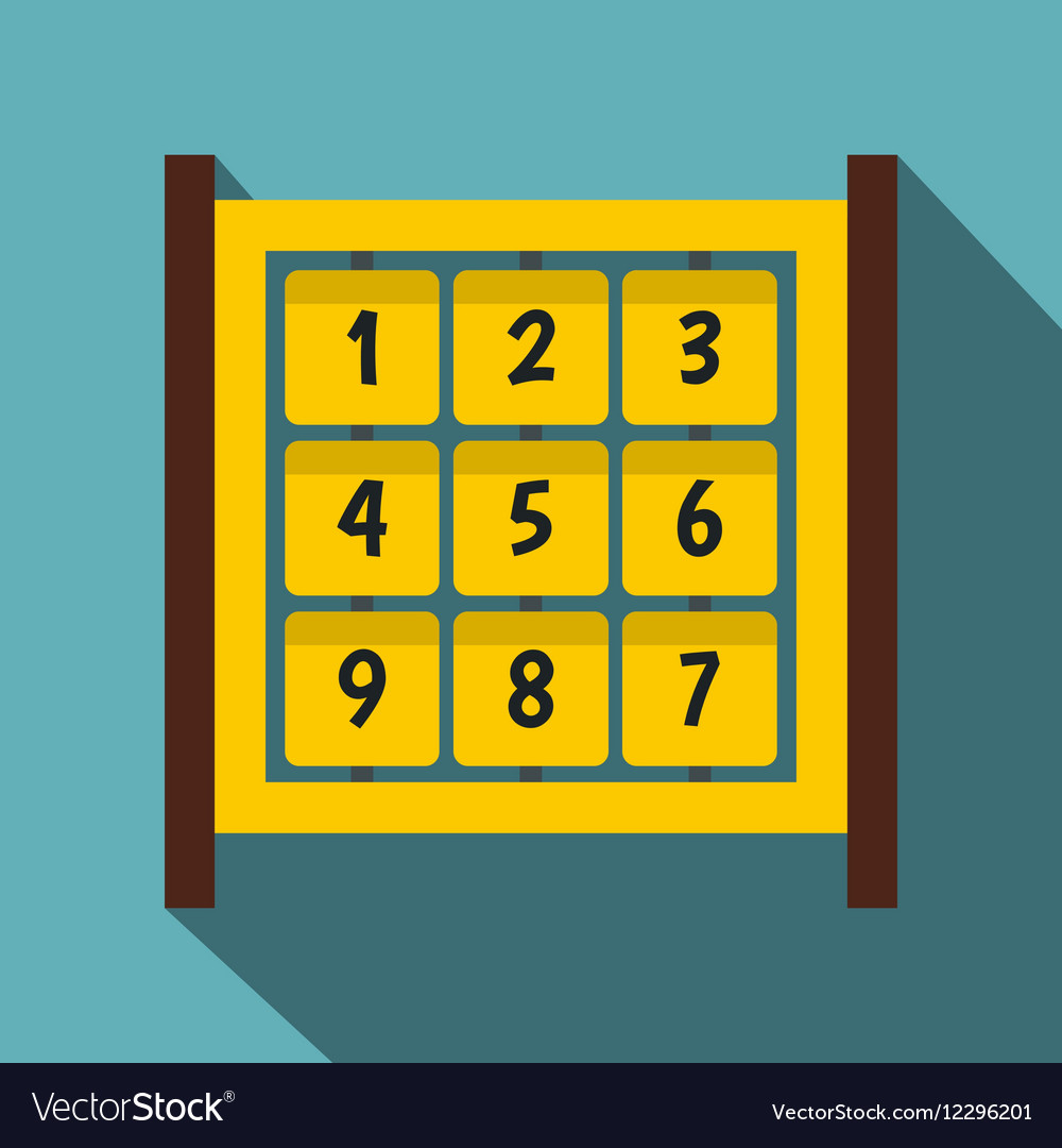 Yellow cubes with numbers on playground icon vector image