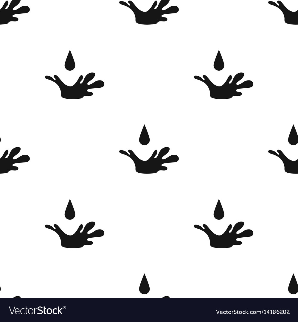 Oil drop icon in black style isolated on white vector image