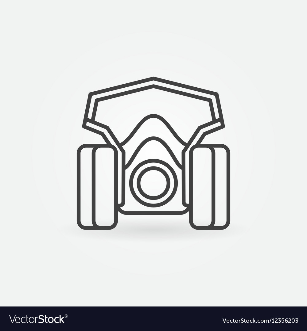 spray paint mask icon royalty free vector image