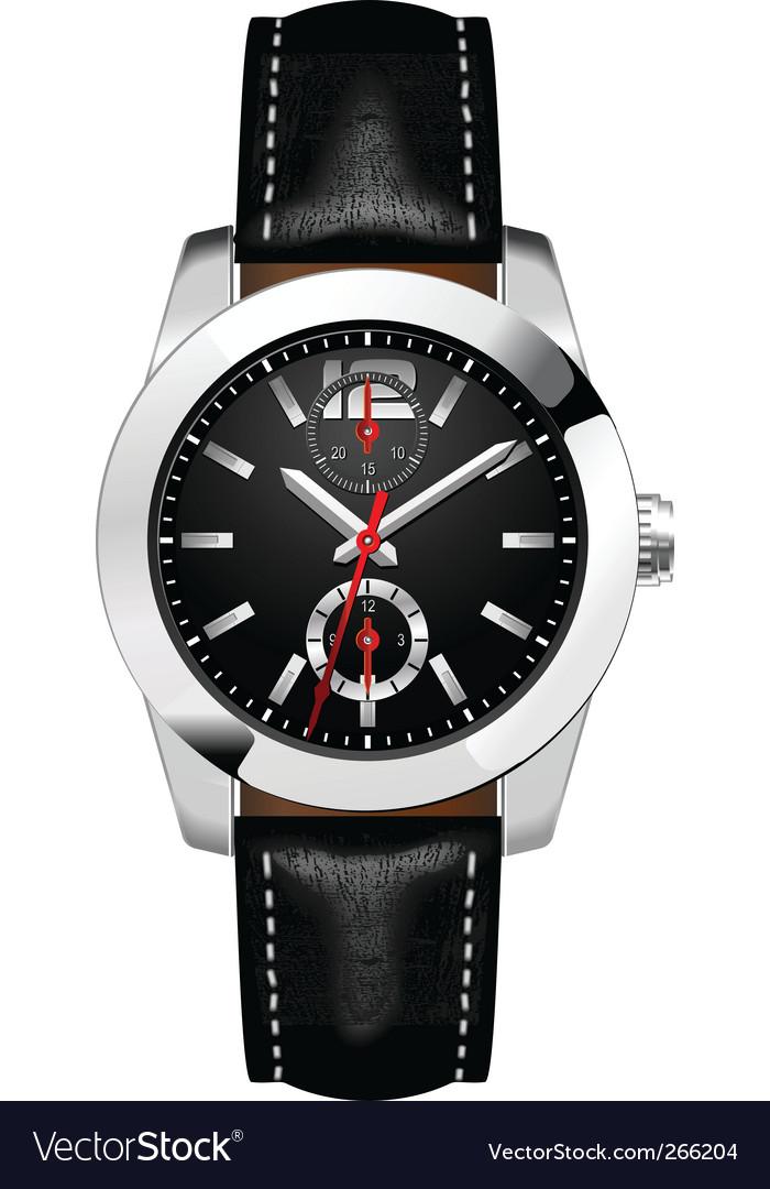 Businessman's watch vector image