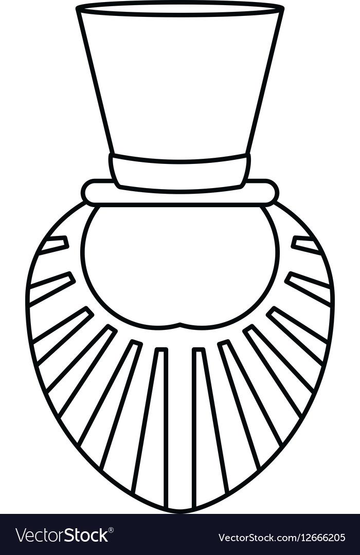 St patrick day leprechaun beard outline vector image