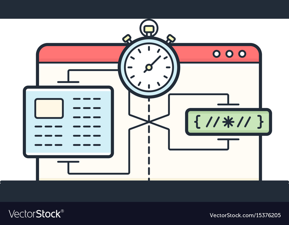 Website speed loading time vector image