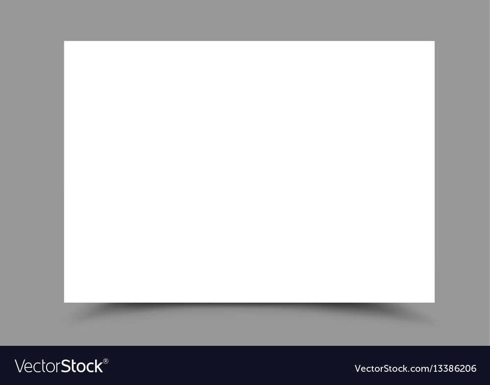 A4 paper form horizontal vector image