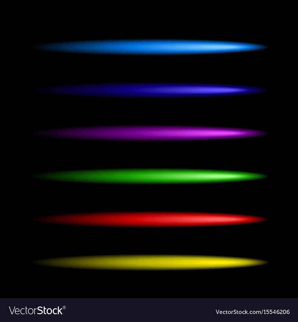 Neon colorful brushes set vector image