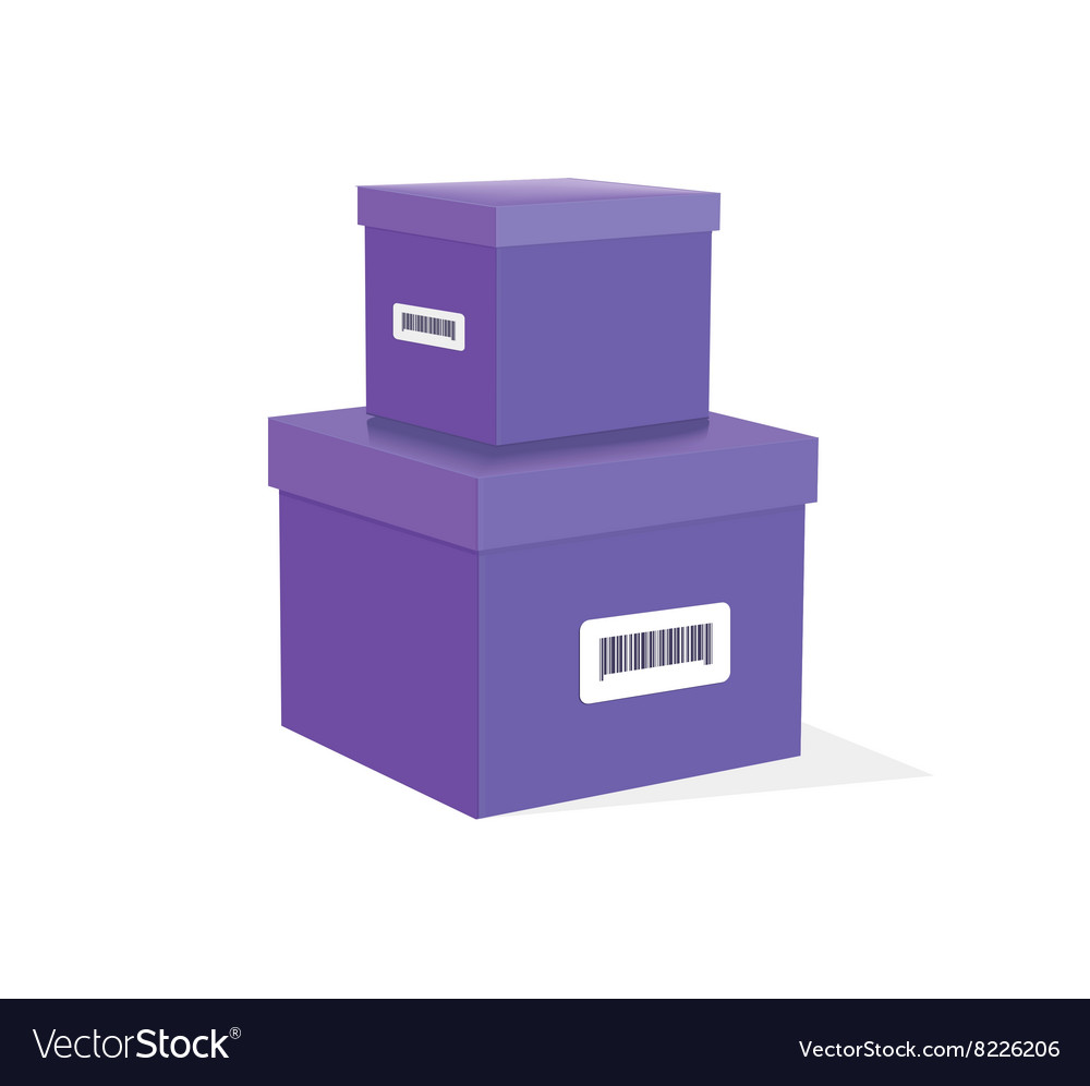 Packing Product Icon Design Style vector image