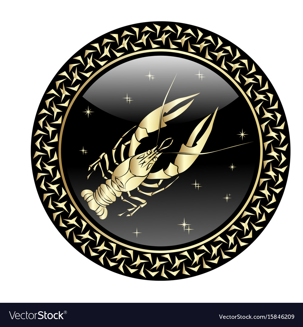 Cancer zodiac sign in circle frame royalty free vector image cancer zodiac sign in circle frame vector image biocorpaavc Gallery