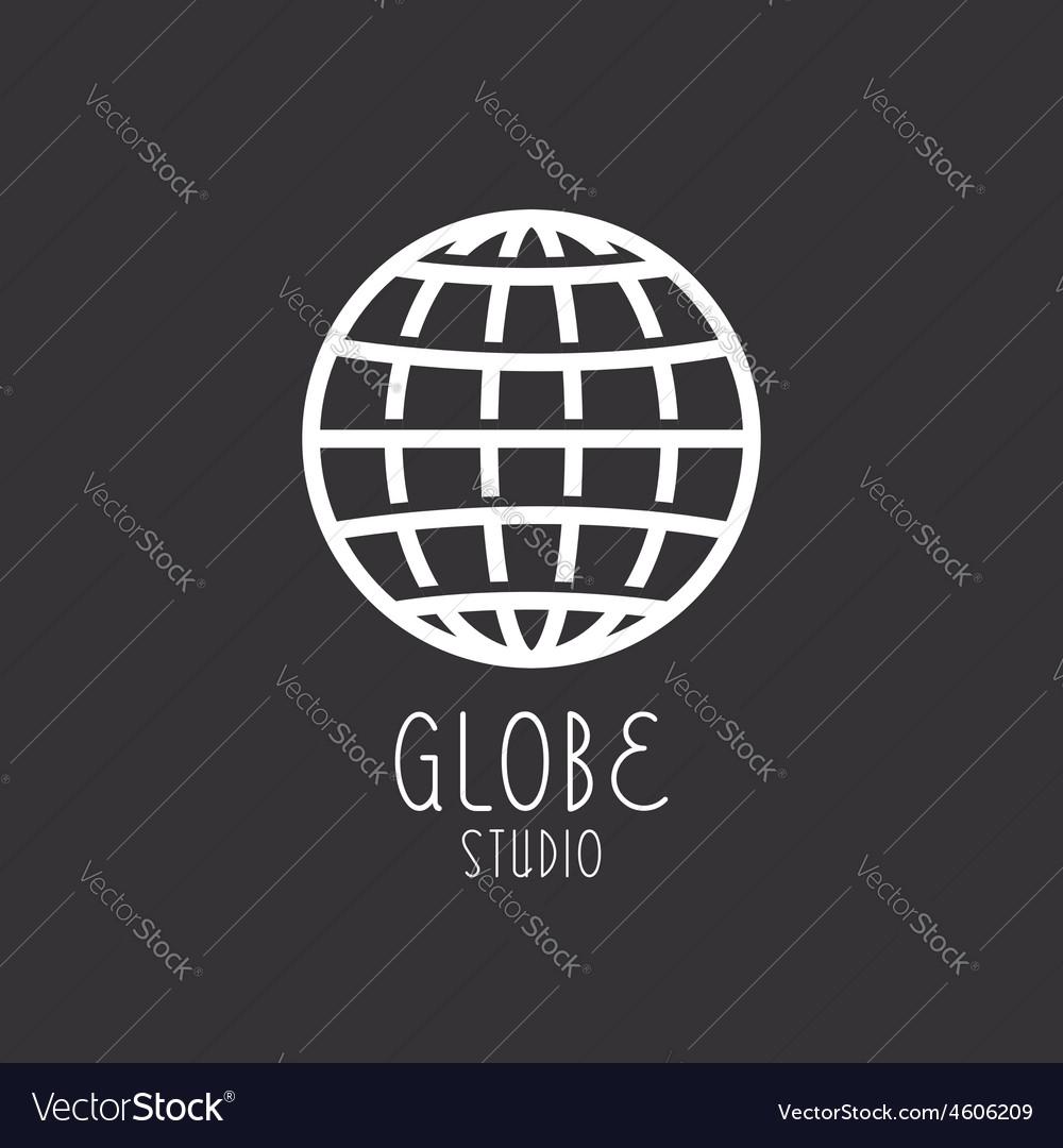 Globe sign business logo vector image