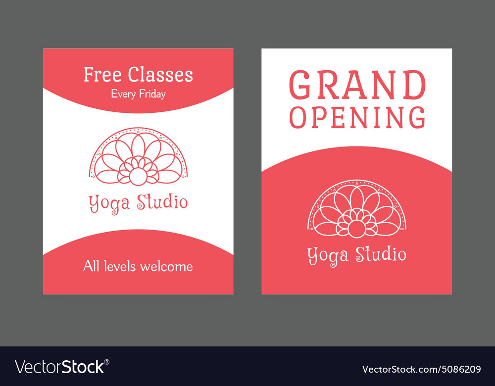 Yoga Studio Brochure Template Royalty Free Vector Image