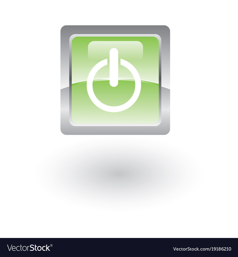 Glossy icon on vector image