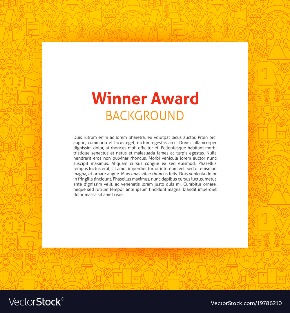Winner Award Paper Template Royalty Free Vector Image  Award Paper Template