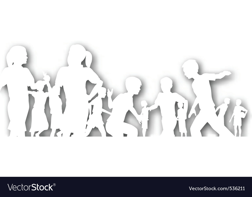 Cutout playtime vector image