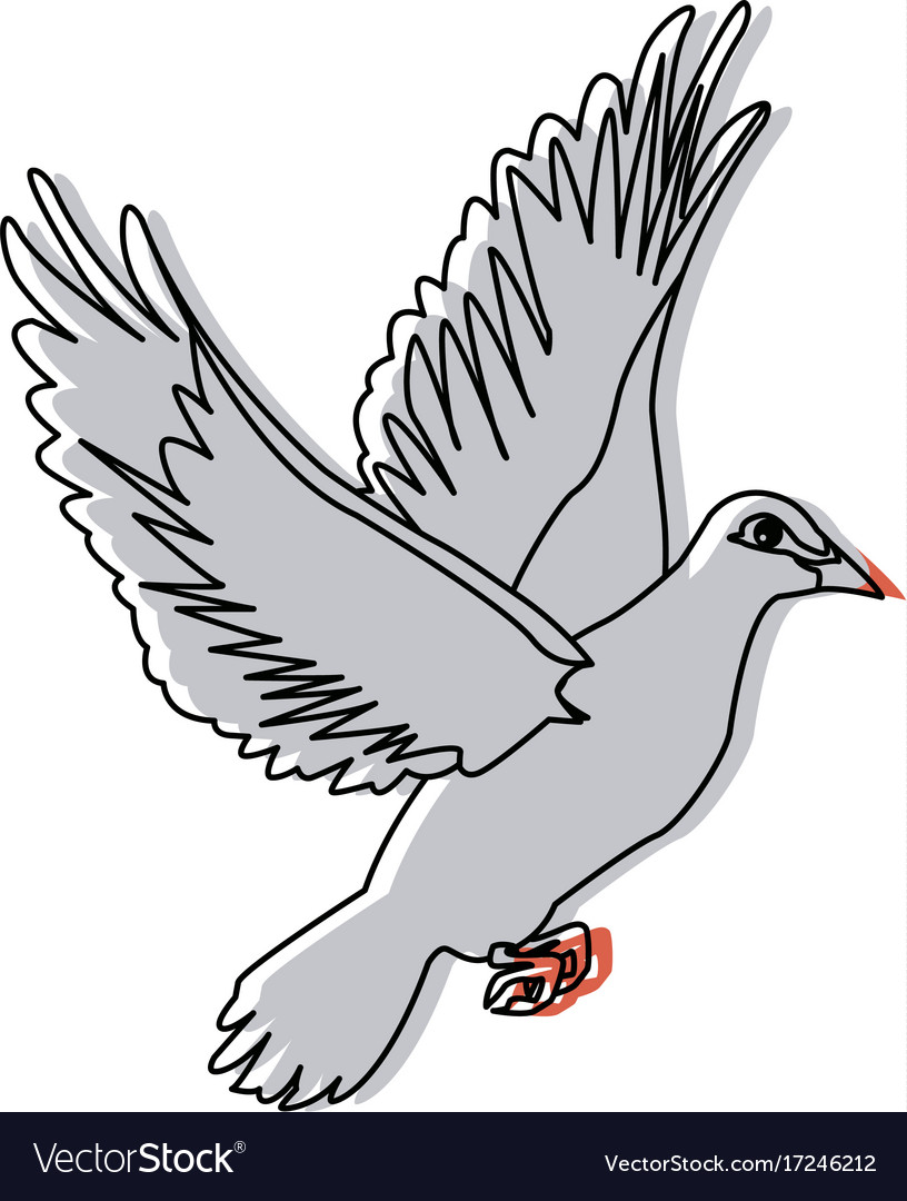 Flying dove on white background as symbol of peace flying dove on white background as symbol of peace vector image buycottarizona