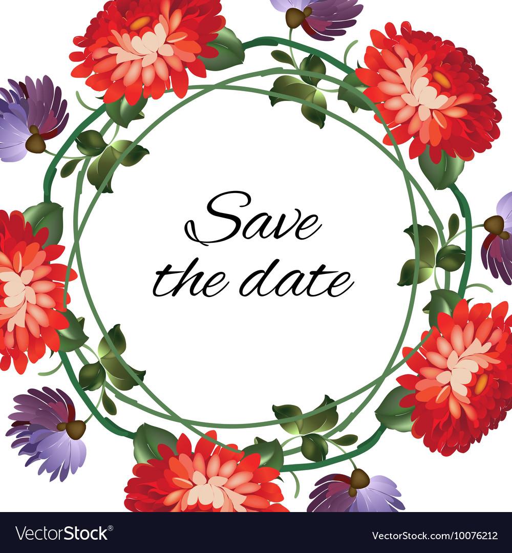 Roses wedding wreath post card vector image