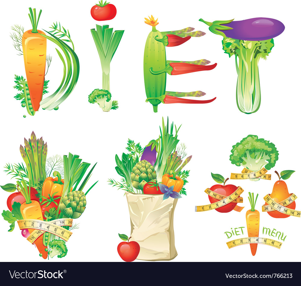 Diet menu concept vector image