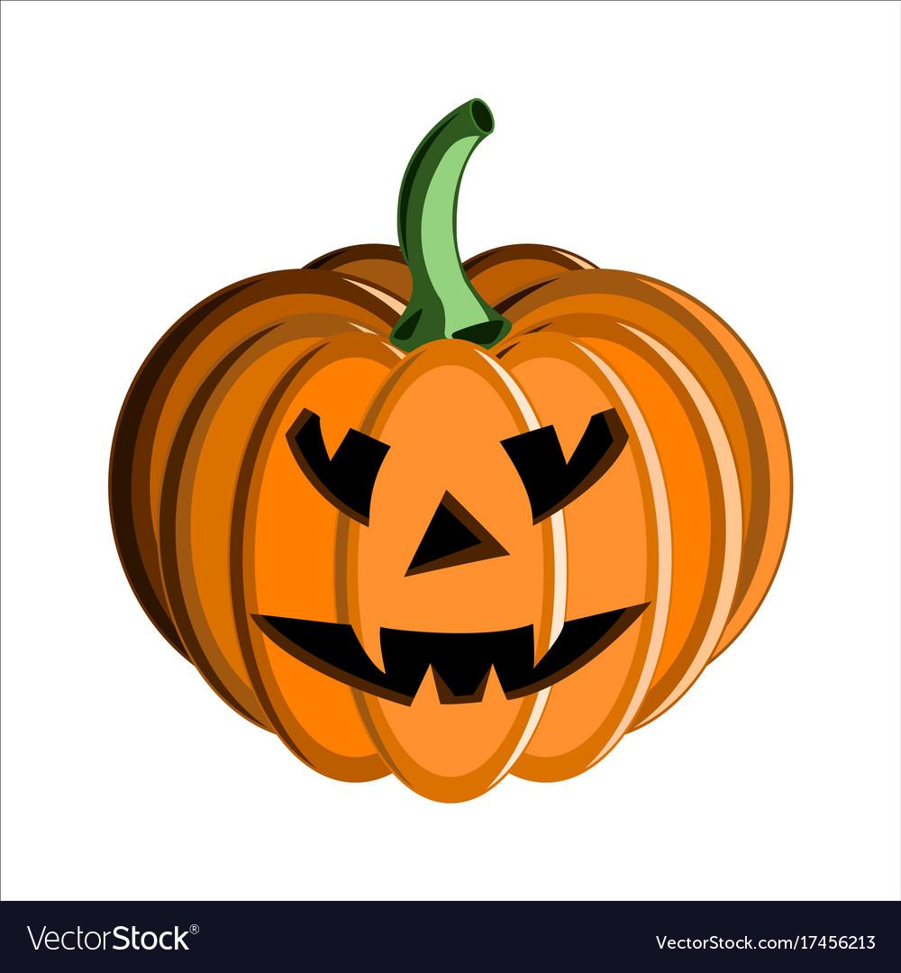 Pumpkin face halloween Royalty Free Vector Image