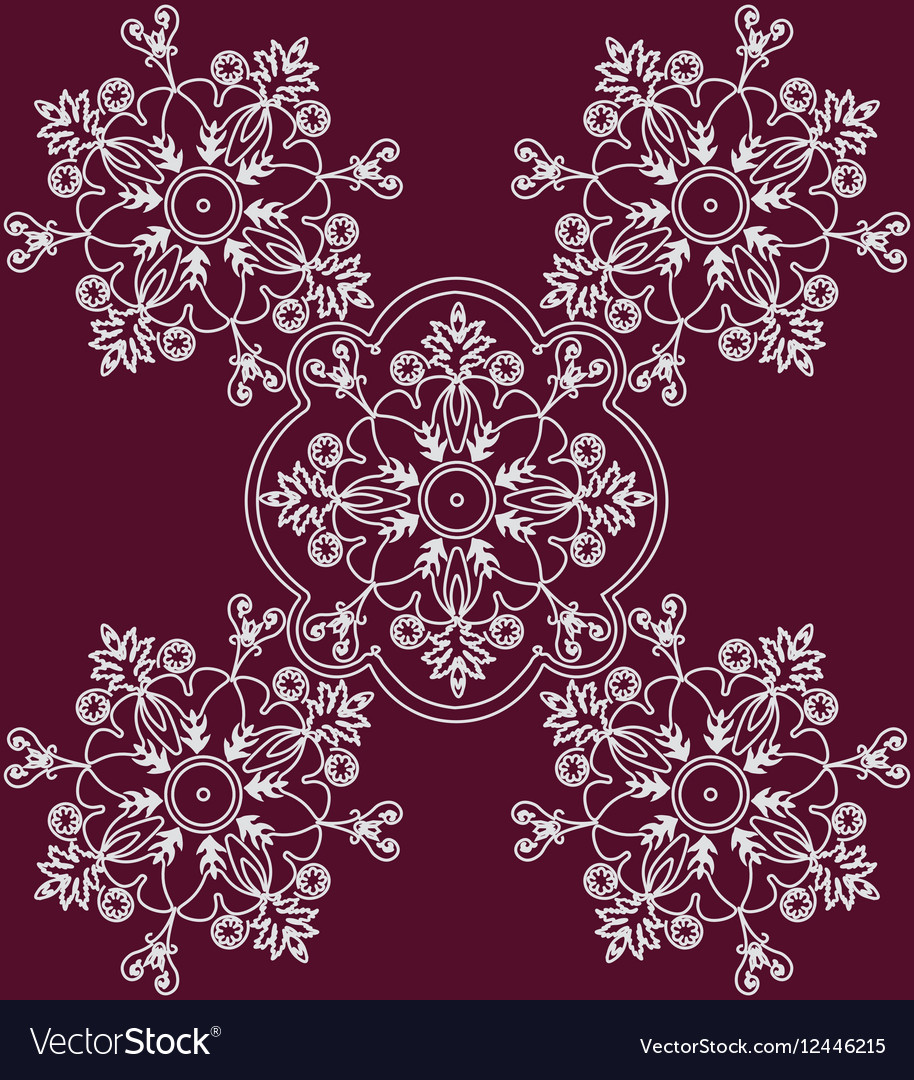 Abstract ethnic floral ornament vector image