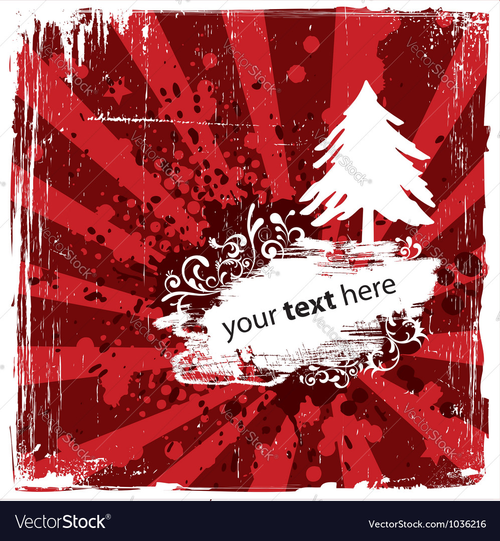 Grungy Christmas Design vector image