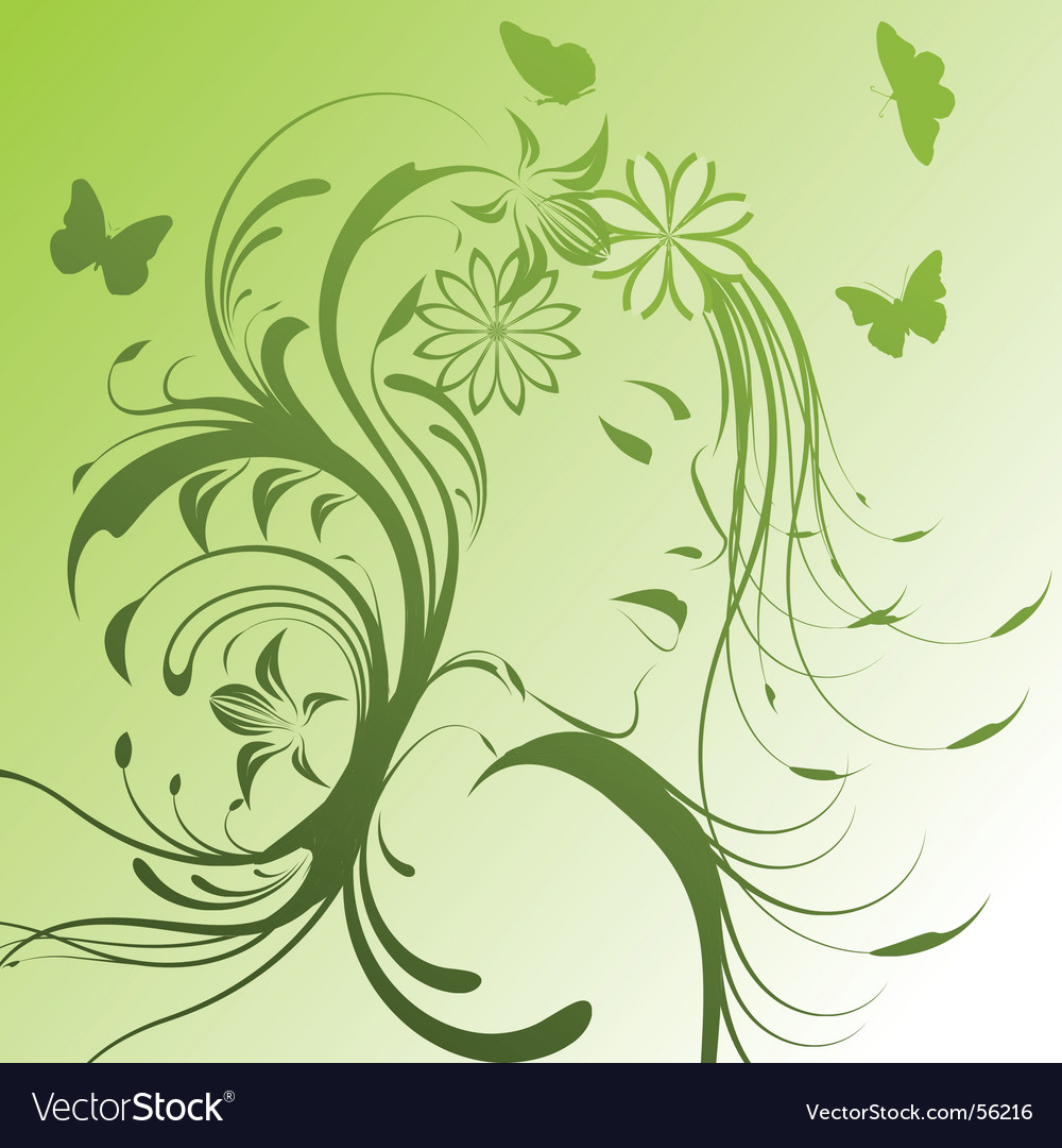 Floral style vector image