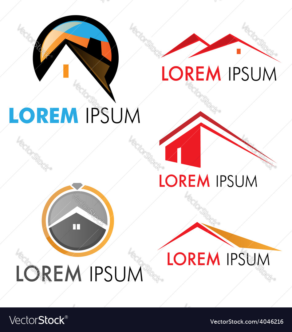 House symbol set vector image
