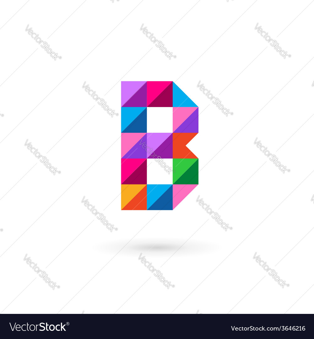 Letter b mosaic logo icon design template elements letter b mosaic logo icon design template elements vector image pronofoot35fo Image collections