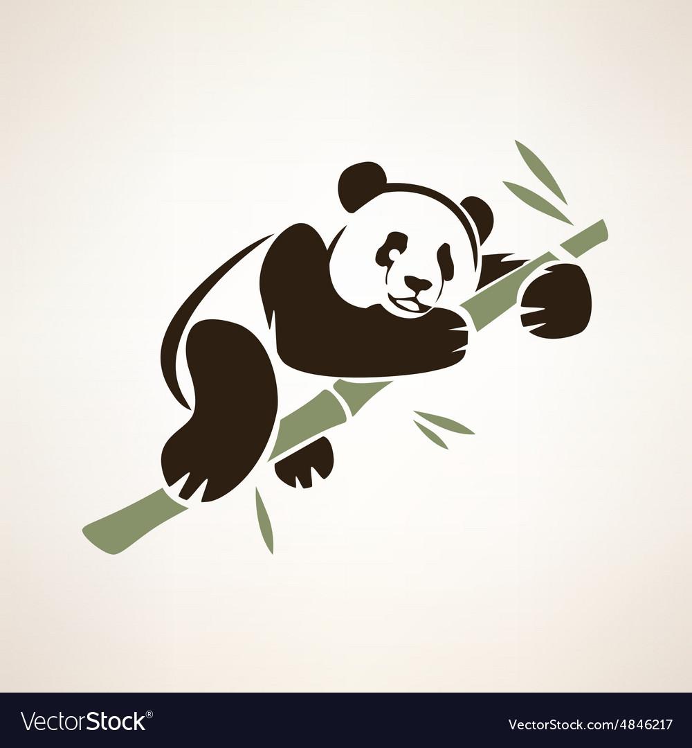 Panda isolated symbol vector image