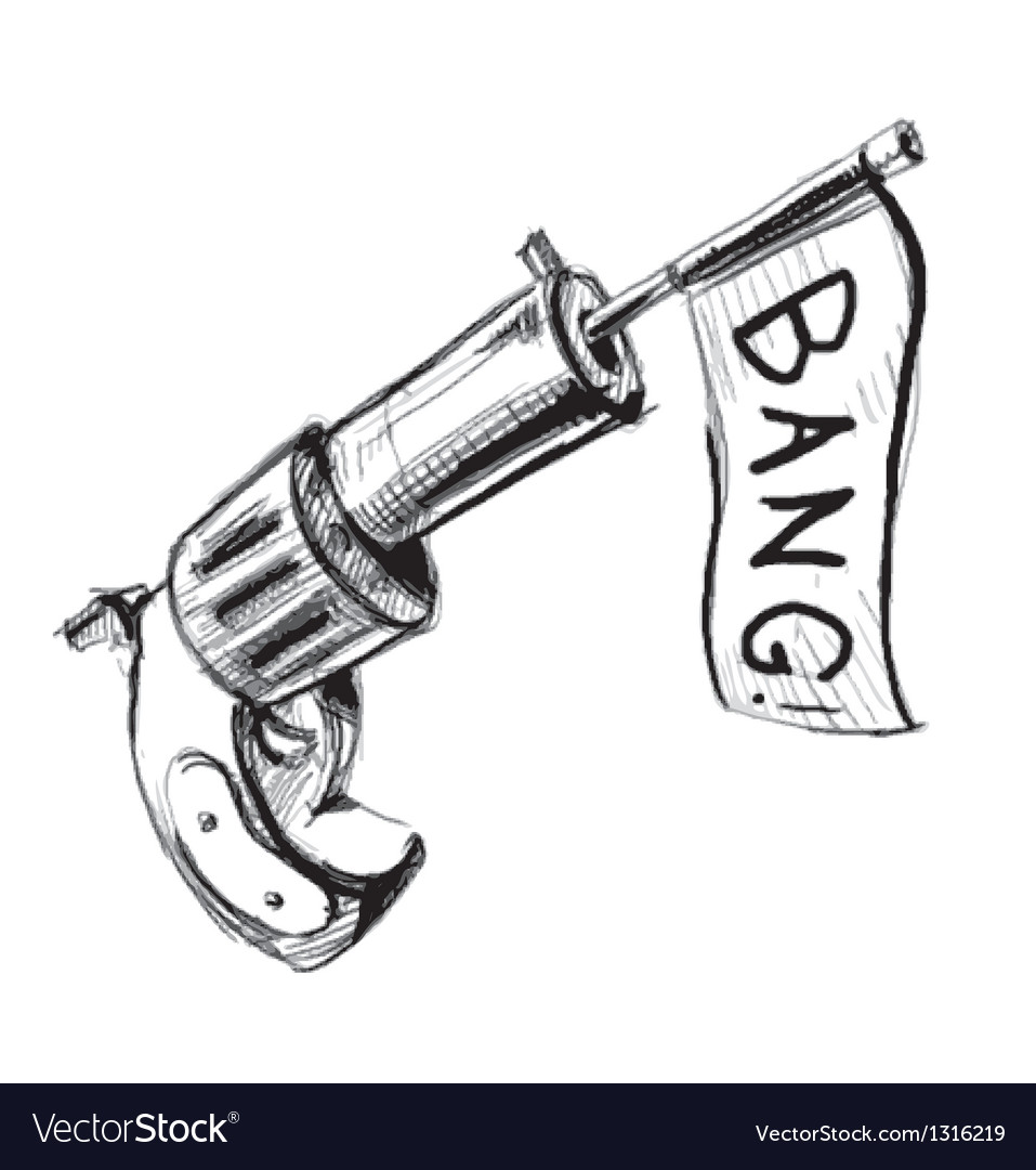 Revolver icon with checkbox vector image