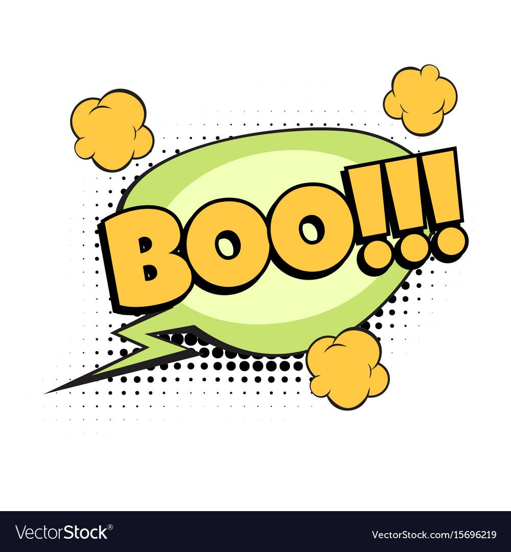 Boo comic word vector image