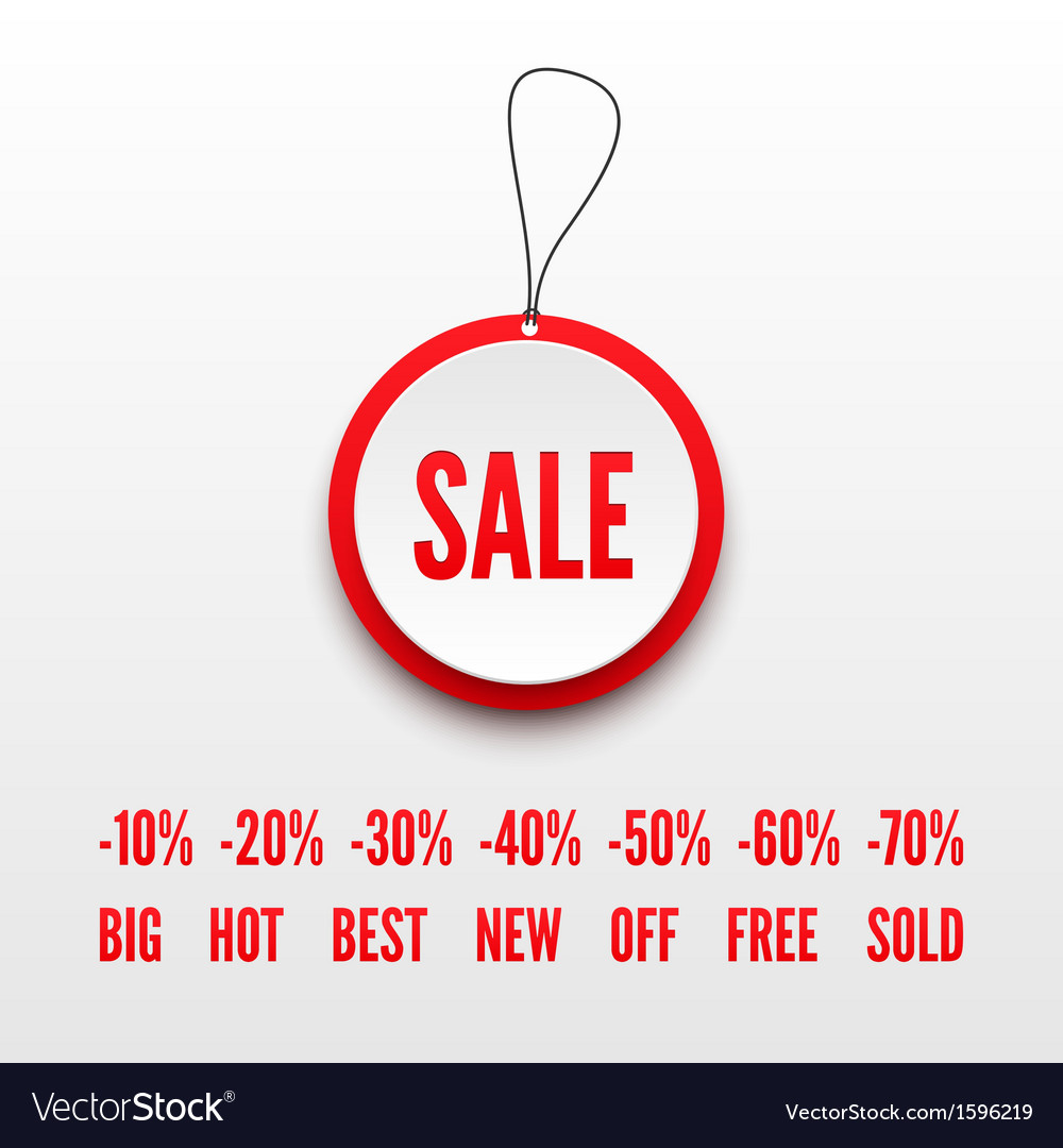 Sale tag 3D vector image