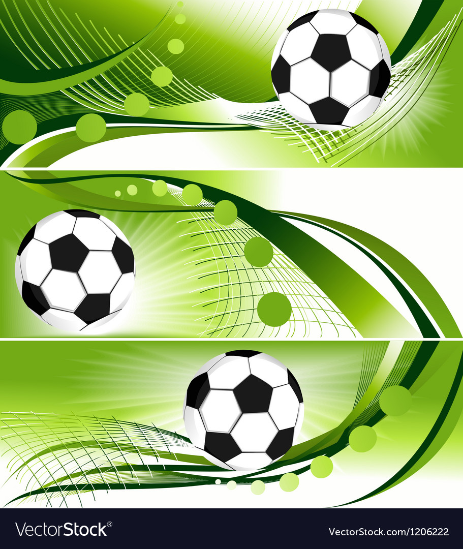 Abstract football banners vector image