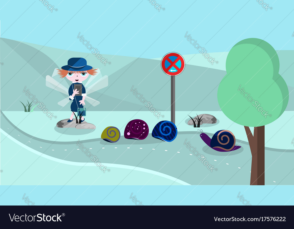 Cute with police woman vector image