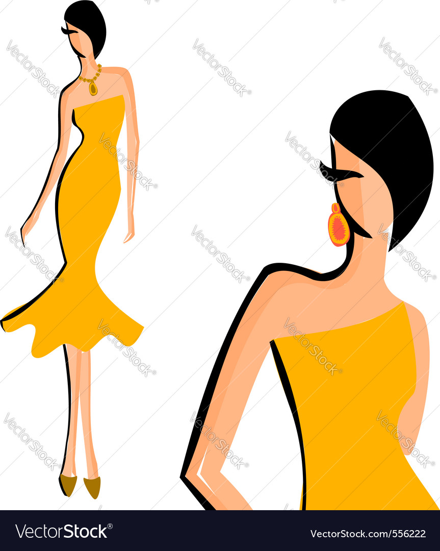 Fashion Model Royalty Free Vector Image
