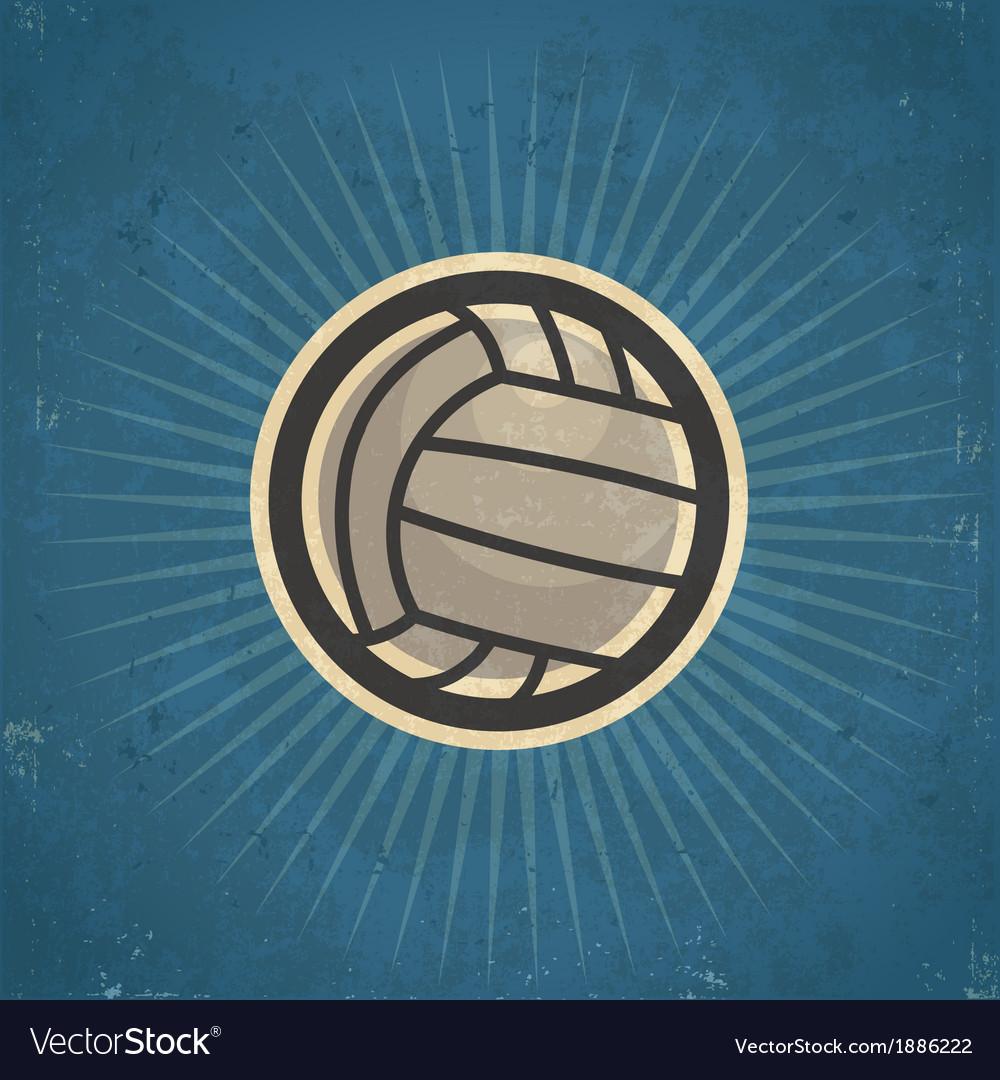 Retro Volleyball vector image