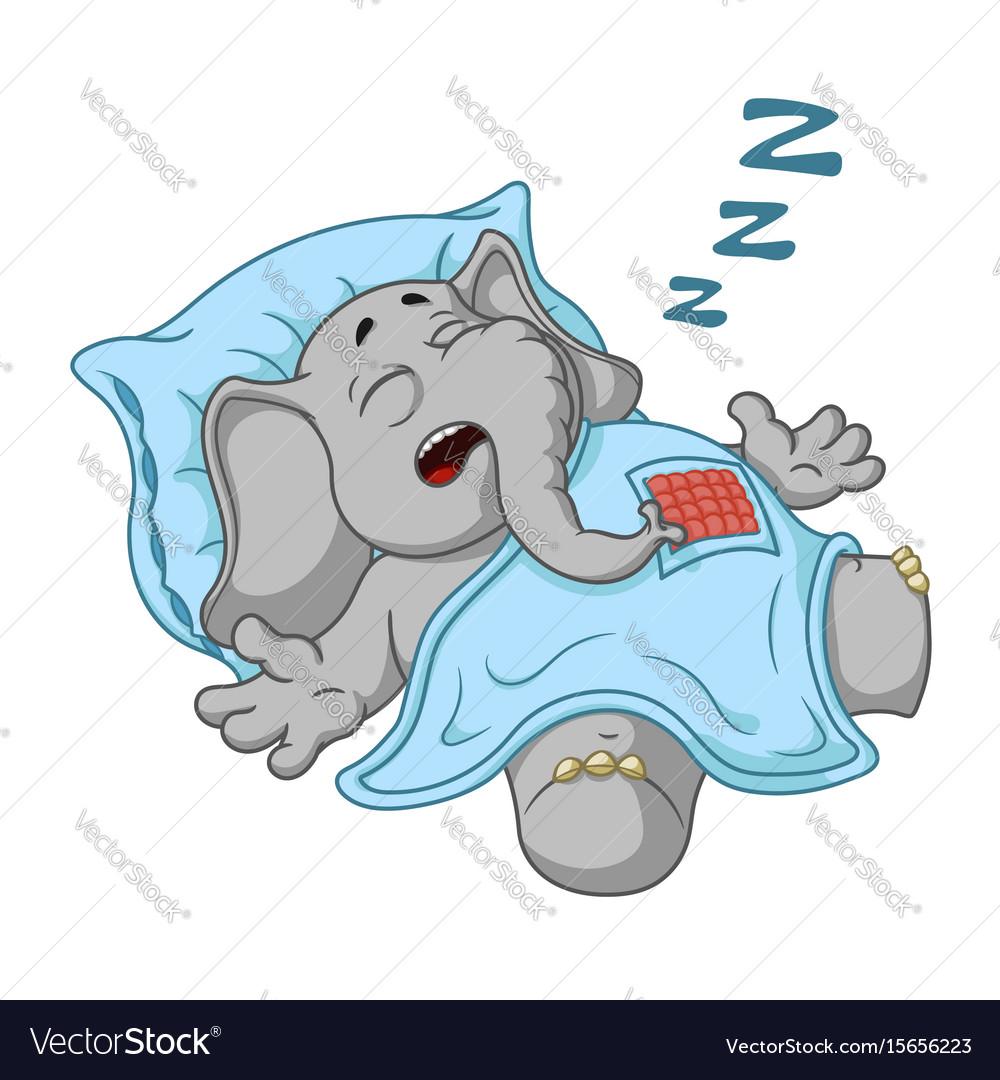 He sleeps with a deep sleep covered with vector image