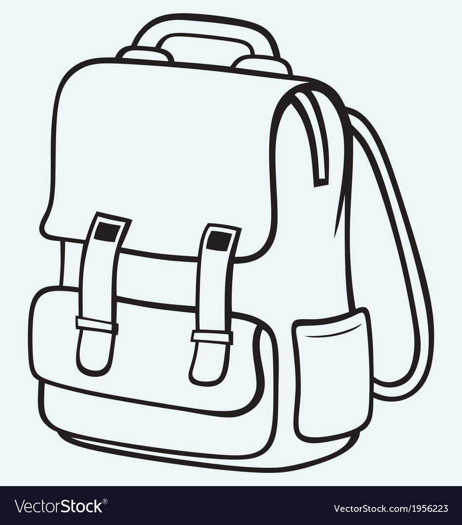 Coloring book bag - School Bag Vector Image