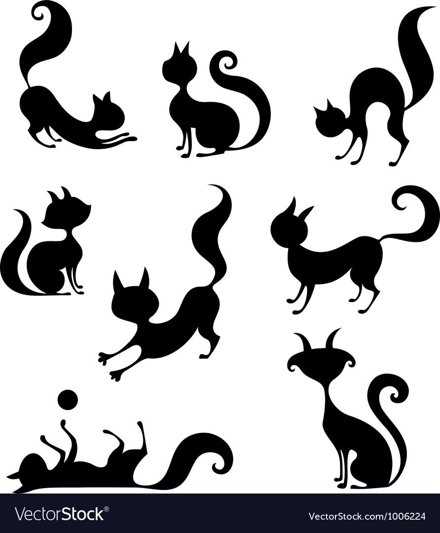 Cat set vector image