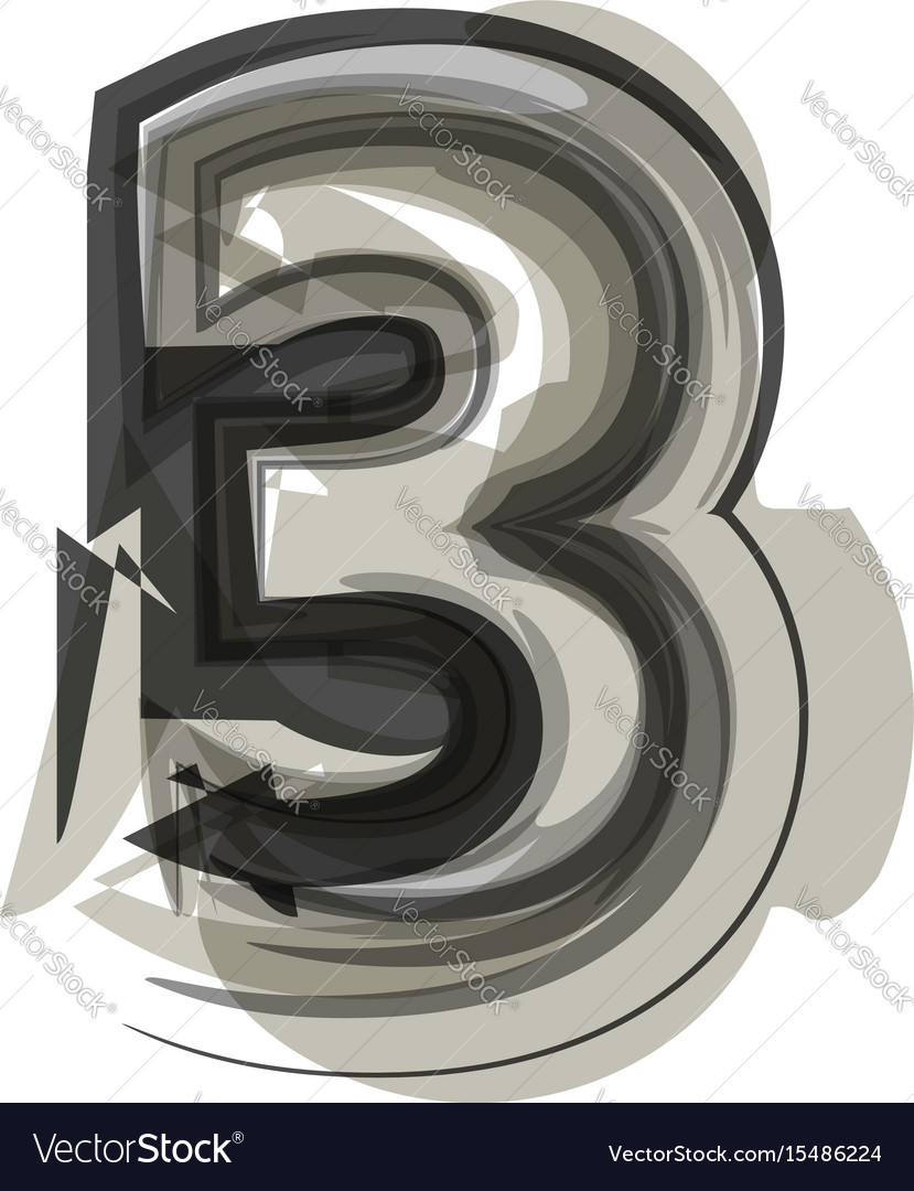 Abstract number 3 vector image